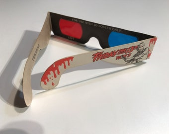 Friday the 13th Part 3 - 3D Glasses - Jason Vorhees