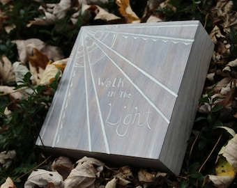 Walk in the Light - Hand Carved Wall Hanging