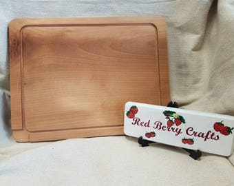 Chopping Board - Cooking - Solid Beech Hardwood - Made to Order