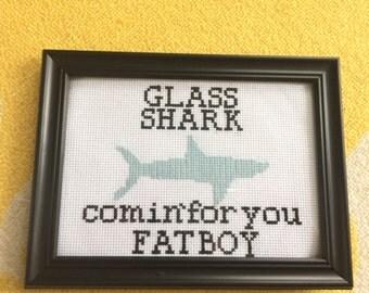 Glass Shark Cross Stitch