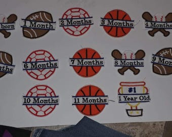 Baby boy month numbers