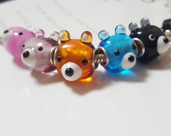 Bears Glasscharm by Urinamu(Available in both Pandora and trollbeads's bangle)