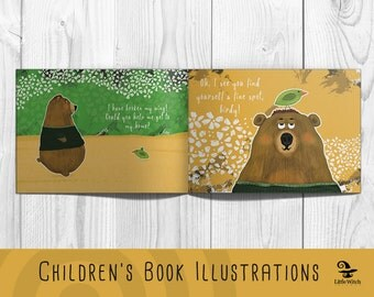 Children's book illustrations Illustrator for hire Custom children's ilustrations Book illustrations Illustrations for kids