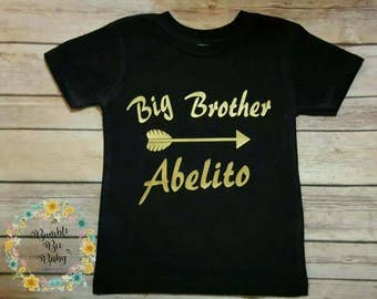 Boys, Toddlers, Big Brother,  Personalized, T-Shirt
