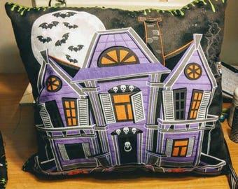 Halloween Mansion Pillow