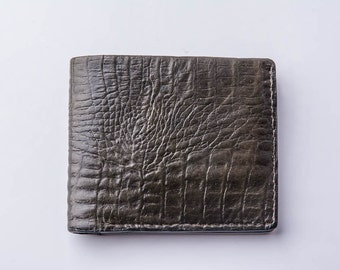 Men's wallets,leather wallet, made of genuine leather with embossed crocodile. Мужской  портмоне из натуральной кожи под крокадила