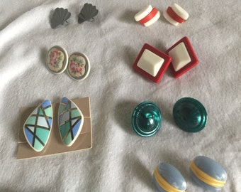 Vintage earrings from the 60s and 70s 10 pairs