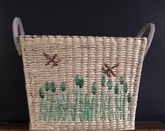 Vintage Straw Basket
