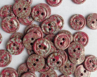 40 Vintage small pink buttons