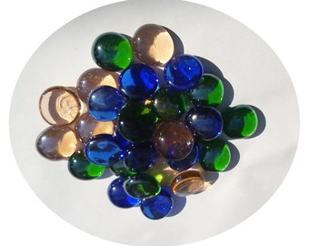 Glass Muggelsteine stained - glass nuggets decorative stones of glass wedges gemstones cabochons pebbles