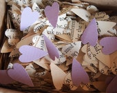 Vintage Heart Confetti made from Books