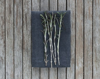 Grey Linen Napkins Set, Linen Napkins, Pure Linen Napkin, Softened Linen napkins, Washed Linen, Natural Table Linen, Flax, Mitered Corners