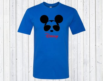 Mens Mickey Mouse Shirt Cool Mickey Daddy, Dad, Custom Name Parent Disney Shirts -Cool Mickey Mouse Vacation Family Matching Shirts [E0380]