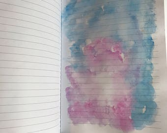 Water color journal / diary/ art journal