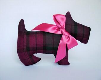 Lavender Scented Scottish, Heather Tartan Scottie Dog. Birthday gift idea. Scented sachet, Scottish gift, Scotland. Mothers Day Gift.