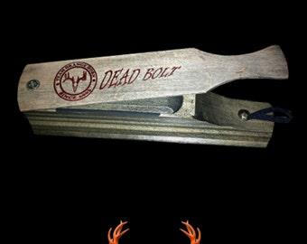Turkey Box Call - Rustic Gray Wood with Metallic Orange Logo - Team Orangehorn