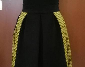 Open pleated skirt