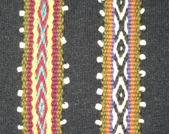 Peruvian woven beaded bracelets