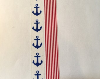 Blue Anchors Washi Tape; Red and White Stripes Washi Tape
