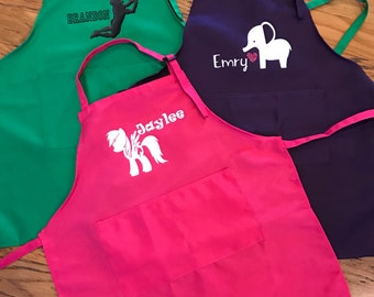 Custom Preschool/Toddler Art Smock/Baker Apron Dinosaurs/Trains/Ponies and more