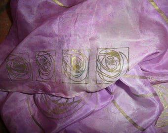 Vtg Mulberry 100% silk long scarf