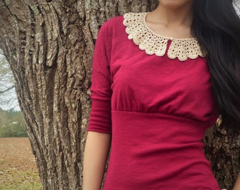 Crocheted Lace Peter-Pan Collar
