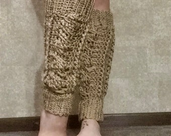 Chunky Cabled Crochet Leg Warmers