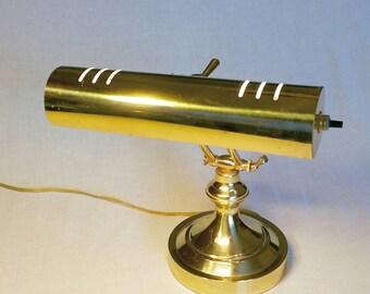 Vintage brass desk/piano lamp