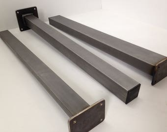 4 x straight steel dining / coffee table or office desk legs by STOAKED - Customisable