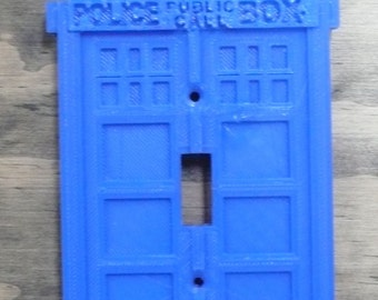 Doctor Who tardis light switch cover Dr Who wall plate switchplate 3D printed - Made in USA