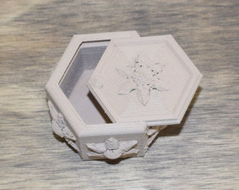 Edelweiss Box home decor jewelry ring box multi use multi purpose 3D printed - Made in USA
