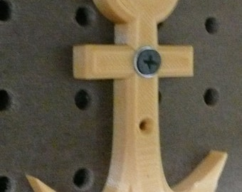 Large anchor wall hanger hook holder home decor wall mount 3D printed - Made in USA