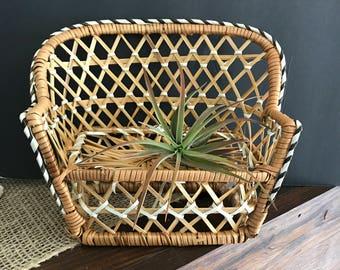 Wicker chair/planter