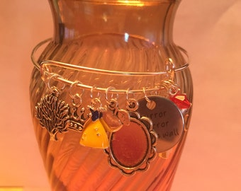 Disney Snow White Inspired Charm Bangle Bracelet