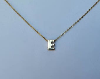 gold choker letter e necklace gold choker personalized