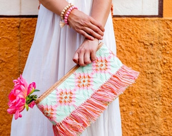 Embroidered pouch SORBET