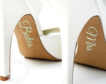 Bridal Shoes Decals | Customised | Wedding Photos | Bride Name
