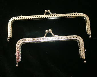 A Set of Metal Purse Kiss-Clasps