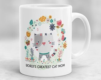 Cat Mom Mug, Pet Owner Mug, Cat Mug, Cat Lover Gift, Cat Lover Mug, Pet Parent Mug P18