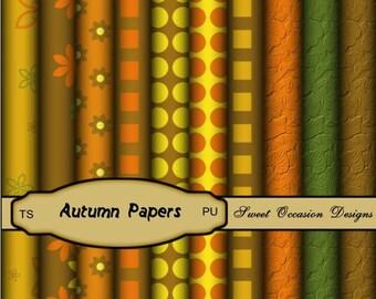 FAll, Autumn Paper Pack Scrapbook, Card Making Elements