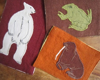 Polar Bear, Frog, and Walrus Patches