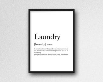 Laundry Wall Print - Wall Art, Home Decor, Utility Room, Laundry Room