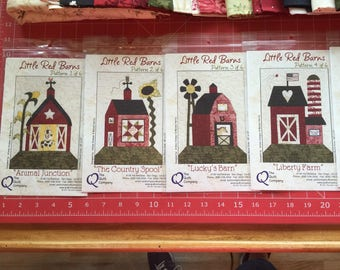Handmade Quilt Little Red Barn