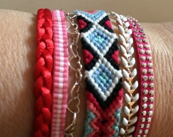 Cuff Bracelet rainbow colored Ghis woman,