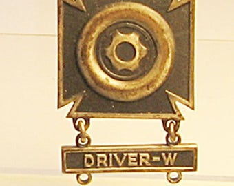 WWII Sterling Driver W Badge Jostens