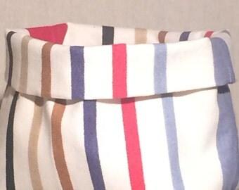 wrap or vacuum-Pocket canvas striped Deckchair