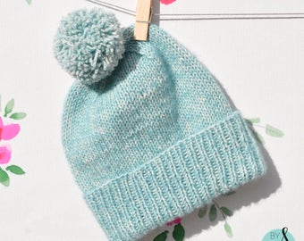 Classic knit baby bobble hat