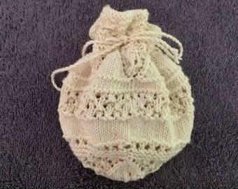 Hand Knitted Lavender Sachet