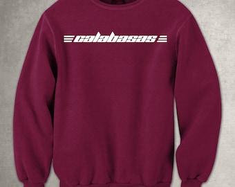Calabasas Maroon Sweatshirt - White - Kanye West - Kylie Jenner - Pablo - Justin Bieber - Free UK Delivery!