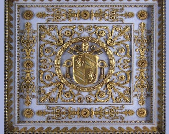1:12 Royal Signature Collection  Dollhouse  Ceiling Panel . Satin unpasted Wallpaper  (One Panel)
